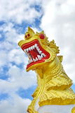 Lion sculpture. In Thai Temple Royalty Free Stock Photography