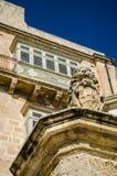 Lion Sculpture. In Valletta Malta Stock Photos