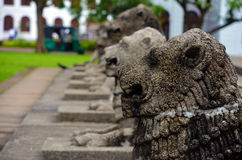 Lion sculptures at Independence Square in Colombo, Sri Lanka Royalty Free Stock Photos
