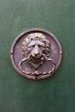 Lion-shaped door knocker Royalty Free Stock Image