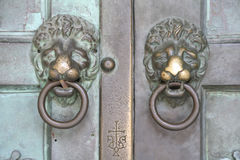 Lion Shaped Door Knockers Royalty Free Stock Photos