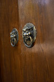 Lion-shaped door knockers Stock Photo