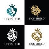 Lion Shield illustrazione di stock