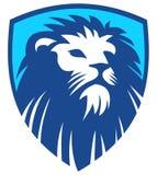 Lion Shield-Blau stockfotos