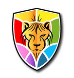 Lion shield colorful Stock Photography