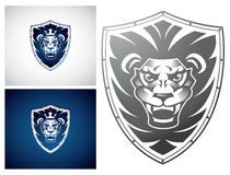 Lion on a Shield Royalty Free Stock Photos