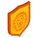 Lion shield icon, isometric 3d style Stock Photography