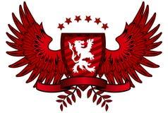 Lion Shield rosso Immagine Stock