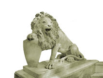 Lion with a Shield Statue Royalty Free Stock Photography