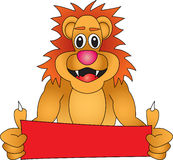 Lion With Sign Stock Photo