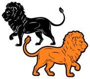 Lion Silhouette Lizenzfreies Stockbild