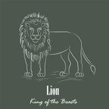 Lion Silhouette blanco Fotos de archivo