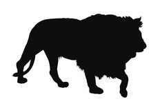 Lion silhouette. Vector file of lion silhouette Royalty Free Stock Photography