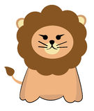 Lion. Single adult lion for clipart or vector Royalty Free Stock Photo