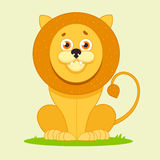 Lion sitting and smiling Royalty Free Stock Photography