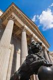Lion at Spanish Congress of Deputies in Madrid Royalty Free Stock Image