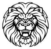 Lion Sports Mascot Angry Face illustration libre de droits