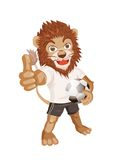 Lion Sporty Character Stock Photo