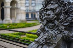 Lion Square in Lille France stock images