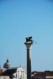 Lion and St. Giorgio Maggiore, Venice royalty free stock photos