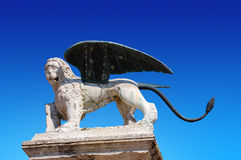 Lion of St. Marco - Marostica Italy Royalty Free Stock Photo