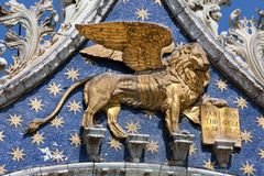 The lion of St Mark Royalty Free Stock Images