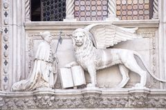 Lion of St Mark stock photography