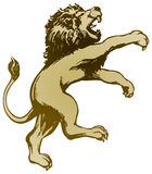 Lion Standing. An illustration of a lion standing and attacking Royalty Free Stock Photos