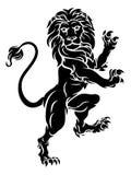 Lion Standing Rampant Heraldic Coat des Arm-Kamms Lizenzfreies Stockfoto