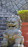 Lion statuary of Chinese style. Gray statuary as beast or lion, in Chinese traditional style Stock Image