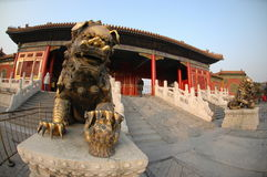 Lion statue. Outside Summer Palace Royalty Free Stock Image