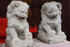 Lion Statue. In front of Forbidden Palace Royalty Free Stock Photo