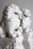 Lion Statue. Chinese Imperial white Lion Statue Stock Image