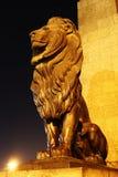 Lion statue. Egyption lion statue on nile palace Bridge Royalty Free Stock Photos