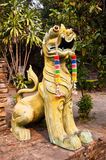 Lion statue. In thai temple Stock Images