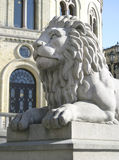 Lion Statue. Stone lion statue Stock Photography