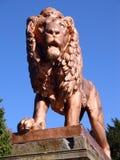 Lion statue 5. Metal lion statue, Zbiroh Castle, Czech republic Royalty Free Stock Images
