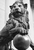 Lion statue. Statue of lion, Madrid, Spain stock photos