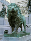 Lion Statue. Statue of a roaring lion at the Tomb of the Unknown Soldier in Brussels, Belgium royalty free stock photography