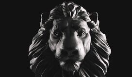 Free Lion Statue, A Stone Sculpture. Concept Of A Guard, Power And Proud Animal Royalty Free Stock Images - 186896979