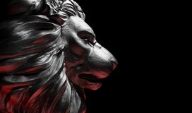 Free Lion Statue, A Stone Sculpture. Concept Of A Guard, Power And Proud Animal Stock Photo - 186897110