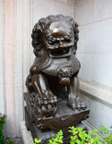 Lion Statue, ancient Chinese traditional arts Stock Photos