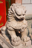 Lion Statue, ancient Chinese traditional arts Stock Images