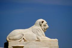 Lion Statue In Bell Isle Stock Photography