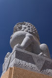 Lion Statue on blue Isolated Royalty Free Stock Photos