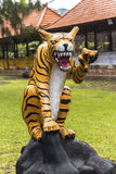 Lion statue in Bratan Water temple, Bali. Indonesia Stock Photography