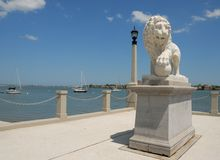 Lion statue Bridge of Lions Royalty Free Stock Images