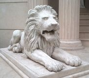 Lion statue. In Bucharest, Romania stock image