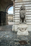 Lion Statue, Buda Castle Royalty Free Stock Photography