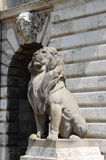 Lion statue in Budapest Royal Palace Royalty Free Stock Photo